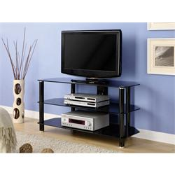 "Concord TV STAND (42-47"")  Glass/Black finish TC280G29 Image"